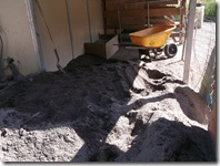 Building up sand in the loafing sheds